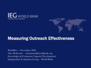Measuring Outreach Effectiveness