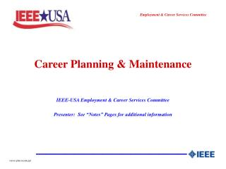 Career Planning  Maintenance