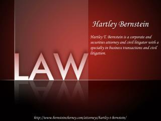 Hartley Bernstein - Real Estate Lawyer