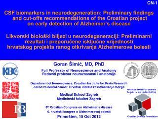 Goran Šimić , MD , PhD