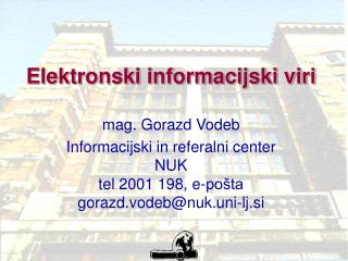 Elektronski informacijski viri