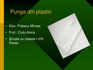 Punga din plastic