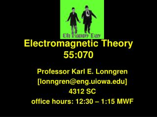 Electromagnetic Theory 55:070