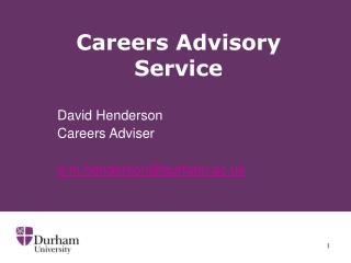 Careers Advisory Service