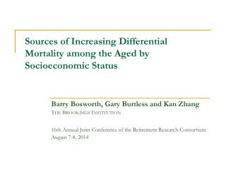 Sources of Increasing Differential Mortality among the Aged by Socioeconomic Status