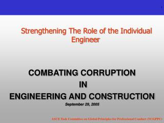 Strengthening The Role of the Individual Engineer