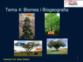 Tema 4: Biomes i Biogeografia