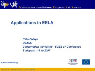 Applications in EELA