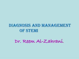 Dr. Reem Al- Zahrani .