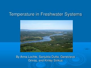 Temperature in Freshwater Systems
