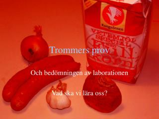 Trommers prov