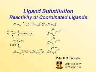 Ligand Substitution Reactivity of Coordinated Ligands