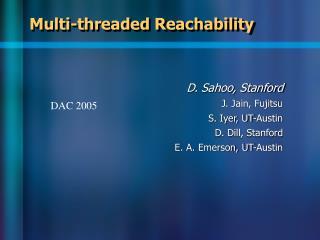 Multi-threaded Reachability