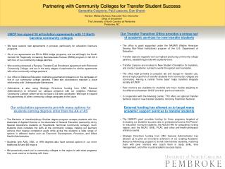 Partnering with Community Colleges for Transfer Student Success