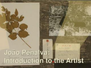 Jo�o Penalva: Introduction to the Artist