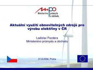Aktuální využití obnovitelných zdrojů pro výrobu elektřiny v ČR
