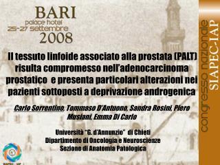 Carlo Sorrentino , Tommaso D'Antuono, Sandra Rosini, Piero Musiani, Emma Di Carlo