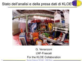 Stato dell'analisi e della presa dati di KLOE