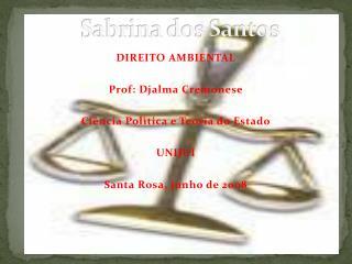 Sabrina dos Santos