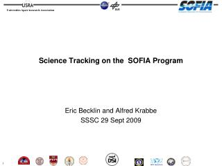 Science Tracking on the  SOFIA Program