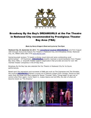 Broadway By the Bay's DREAMGIRLS at the Fox Theatre