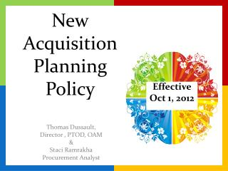 New Acquisition Planning Policy