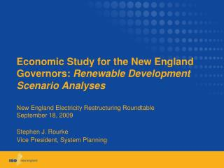 Economic Study for the New England Governors:  Renewable Development Scenario Analyses