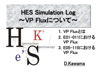 HES Simulation Log ~ VP Flux について~