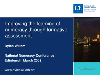 Improving the learning of numeracy through formative assessment