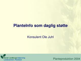 PlanteInfo som daglig støtte