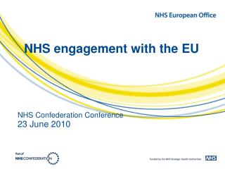 NHS engagement with the EU