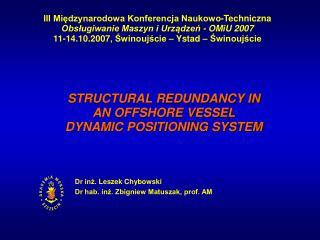 III Międzynarodowa Konferencja Naukowo-Techniczna Obsługiwanie Maszyn i Urządzeń - OMiU 2007