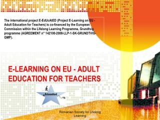 E-LEARNING ON EU - ADULT EDUCATION FOR TEACHERS