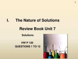 The Nature of Solutions Review Book Unit 7