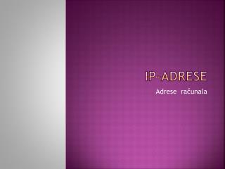IP-adrese