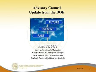 Advisory Council  Update from the DOE