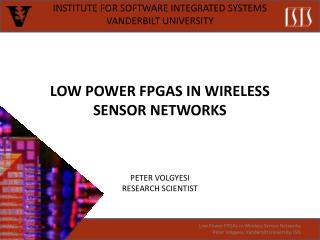 Low Power FPGAs in Wireless Sensor Networks