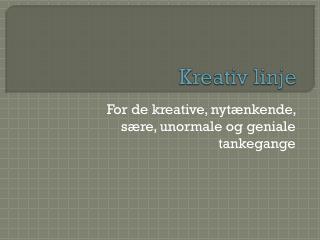 Kreativ linje