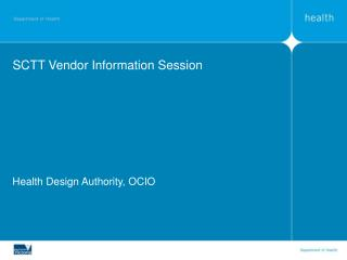 SCTT Vendor Information Session