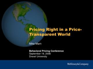 Pricing Right in a Price-Transparent World