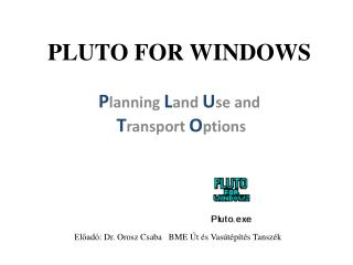 PLUTO FOR WINDOWS