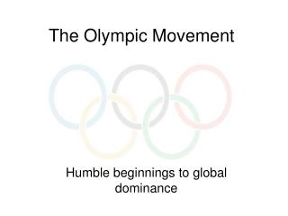 The Olympic Movement