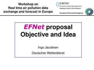 Workshop on Real time air pollution data exchange and forecast in Europe