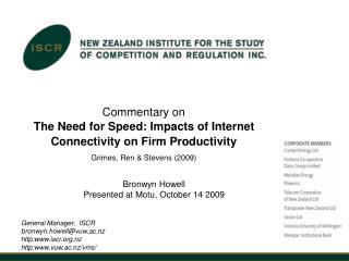 Commentary on The Need for Speed: Impacts of Internet Connectivity on Firm Productivity