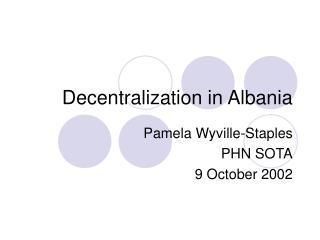 Decentralization in Albania