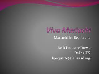 Viva Mariachi