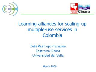 Learning alliances for scaling-up multiple-use services in Colombia