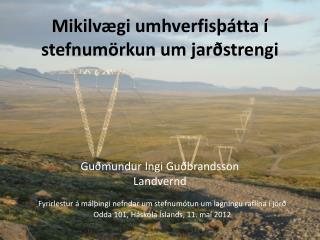 Mikilvægi umhverfisþátta í stefnumörkun um jarðstrengi