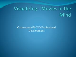 Visualizing:  Movies in the Mind