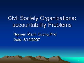 Civil Society Organizations: accountability Problems